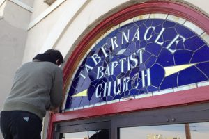 Tabernacle Baptist Church Stained Glass Repair ©Cain Art Glass 2016, All Rights Reserved