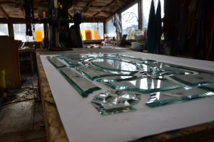 Transom Cain Inc. Stained Glass Art Glass Beveled Glass Window