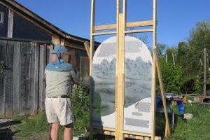 Wayne Cain Cain Inc. Carving Glass Art Glass