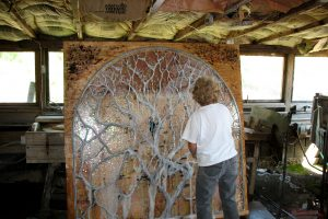 Wayne Cain Leaded Glass Stained Glass Solder Sculpturing