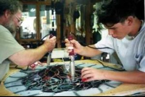 Cain White Art Glass Father-Son Team