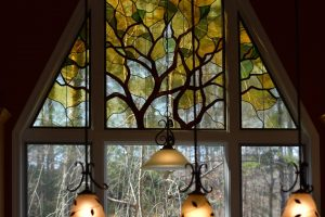 Contemporary Stained Glass Tree Lake Monticello Virginia 02