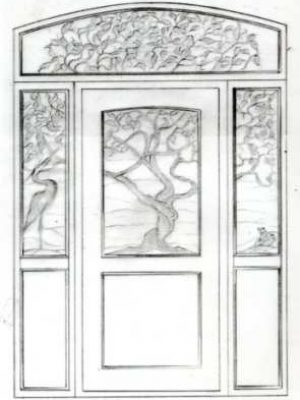 Stained Glass Window Sketch 03 Cain Art Glass