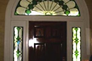 Traditional Stained Glass Transom Beveled Glass Entryway 02